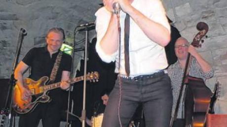 Start des Ulmer Bluesfestes: Sänger Michael Arlt an der Bluesharp.
