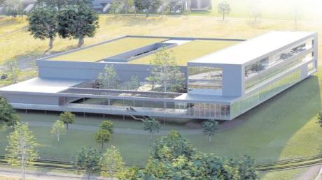 So soll die neue Zentrale der AEG MIS am Oberen Eselsberg in Zukunft aussehen. Das energieeffiziente Gebäude wird laut Bauplan im nächsten Jahr fertiggestellt. Das Unternehmen lässt sich den Neubau 18,5 Millionen Euro kosten.