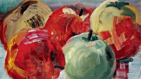 """Saftig und prall sind Rainer Fettings """"Äpfel aus Karwe"""". Der einstige """"Neue Wilde"""" malte das Bild 1993."""