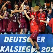 Deutscher Basketball-Pokal .Top-Four in der Ratiopharm Arena in Neu-Ulm.  Pokalsieger 2018 wurde der FC Bayern München .
