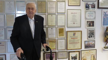 Karl Kling wurde am 18. Dezember 2018 90 Jahre alt. Das Bild wurde kurz vor seinem runden Geburtstag aufgenommen.