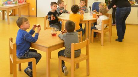Der Kindergarten Witzighausen wurde erst vor Kurzem eingeweiht – und war schon zu diesem Zeitpunkt zu klein. Deswegen wurde der Mehrzweckraum kurzerhand zu einem weiteren Gruppenraum umgestaltet.