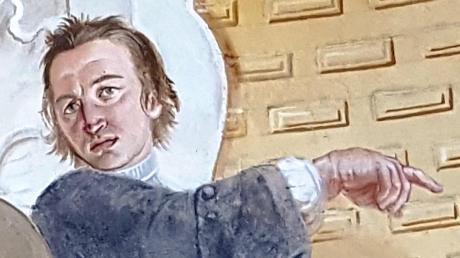 So malte sich der Künstler Kuen selbst in der Schlosskapelle Illertissen. Ein Buch, 250 Jahre nach seinem Tod, würdigt sein Schaffen.