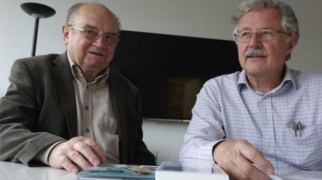 """Haben gemeinsam am Film """"Flugzone Neu-Ulm"""" gearbeitet: Erwin Franz (links) und Günter Merkle."""