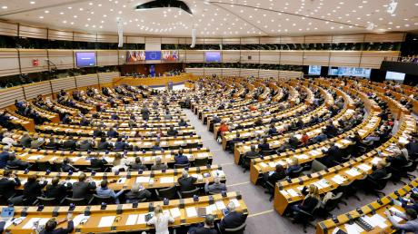 Der Plenarsaal des Europaparlaments in Brüssel.