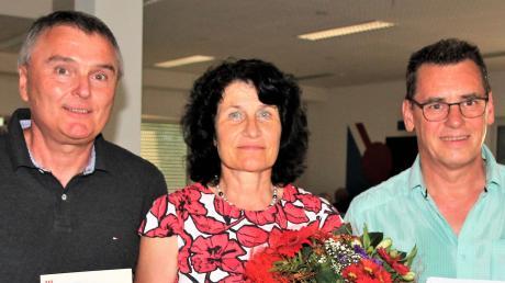 Für je 50 Jahre im Verein geehrt (von links): Jürgen Wahl, Sabine Wengner und Stephan Braunger.