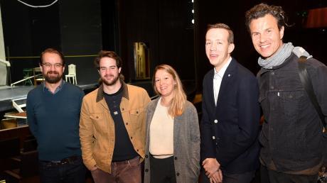 Spartenchef Jasper Brandis (links) freut sich über die neuen Schauspieler in seinem Ensemble: (neben ihm von links) Björn Ingmar Böske, Alexandra Ostapenko, Rudi Grieser und Frank Röder.