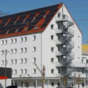 Bis zu 250 Flüchtlinge wohnen im Speichergebäude im Starkfeld in Neu-Ulm.