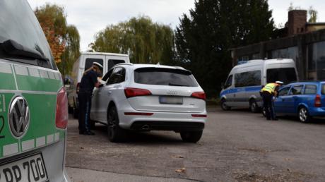 Zum Sicherheitstag gab es in der Region zahlreiche Kontrollen, so wie hier in Elchingen.