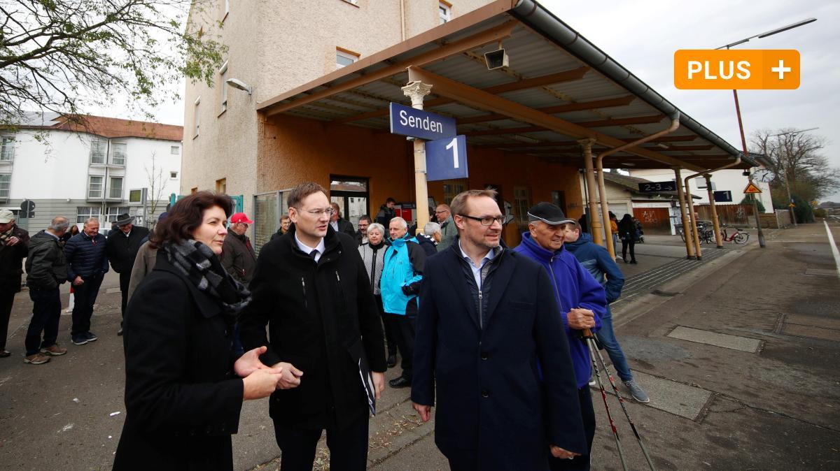 Minister Hans Reichhart blickt auf die Zukunft des Bahnhofs Senden - Augsburger Allgemeine