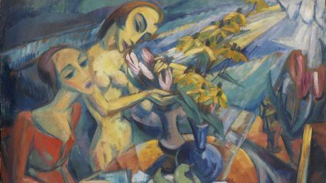 """""""Frauen am Tisch"""" heißt dieses Gemälde von Dorothea Maetzel-Johannsen aus dem Jahr 1919. Es weist neben Einflüssen des deutschen Expressionismus auch solche aus Frankreich auf."""