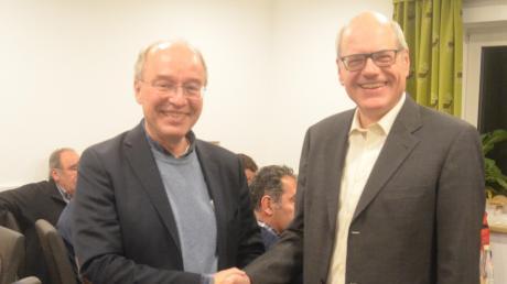 Wollen weiterhin zusammenarbeiten: Wolfgang Fendt (links) und SPD-Ortsvorsitzender Herbert Richter.