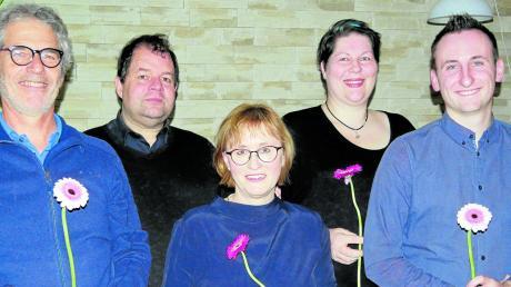 Die Kandidaten der Grünen für den Pfaffenhofer Marktgemeinderat: (von links) Klaus Größler, Michael Bailer, Renate Mehringer, Andrea Braun und Christoph Maisch. Susanne Schmid fehlt.