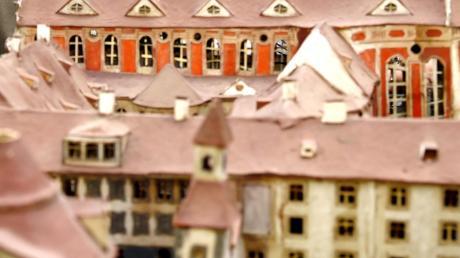 Dieses Modell der einstigen Oberelchinger Klosteranlage stammt aus dem Jahr 1793. Es wird im neuen Schaudepot unterkommen.