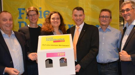 Für die FDP kandidieren: (von links) Peter Kuhnen, Peter Zobel, Christina Zimmermann, Andreas Ritter, Peter Rudolf und Michael Zimmermann.