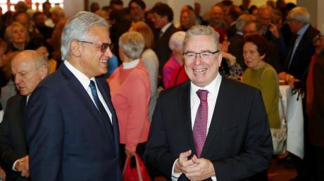 Bei ihrem letzten gemeinsamen Neujahrsempfang als Oberbürgermeister von Ulm und Neu-Ulm: Gunter Czisch (links) und Gerold Noerenberg.
