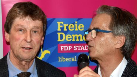Beim Empfang: Achim Bubenzer (links) und Alfred Schömig.