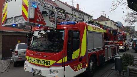 Die Neu-Ulmer Feuerwehr musste in der Blumenstraße keinen Brand löschen.