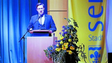 Bürgermeister Raphael Bögge blickt beim Neujahrsempfang der Stadt Senden auf das Jahr zurück – und ins neue Jahr hinein.