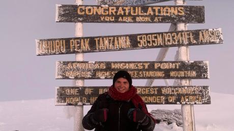 Michael Lämmle auf dem Kilimandscharo.