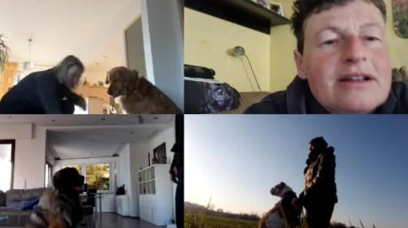 Sandra Franke führt eine Hundeschule in Aufheim. In der aktuellen Situation unterrichtet sie Hund und Herrchen über das Internet. Per Videochat gibt sie Tipps und beobachtet, wie die Übungen ausgeführt werden.
