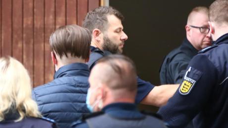 Das Polizeiaufgebot beim Prozess im Kornhaus ist groß.