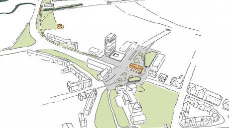 Das Ehinger Tor ist einer von drei Abschnitten der Planungen. Vor dem Scholl-Gymnasium (unten) könnte eine Grünfläche entstehen.