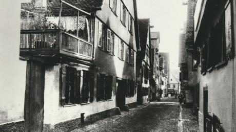 Der Wieland-Geburtsort: Dieses Bild aus dem Jahr 1935 zeigt die Rosengasse in Ulm. Hier übernahm Philipp Jakob Wieland die Glockengießerei seines Onkels.