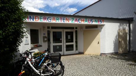 Der Kindergarten Zachäusnest im Vorfeld: Einige Bereiche des Außengeländes sollen Experten zufolge zunächst sicherheitshalber gesperrt bleiben.