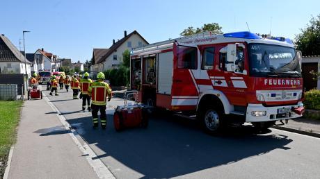 Weil Bewohner eines Hauses in Oberelchingen Essen auf dem Herd vergessen hatten, musste am Dienstag die Feuerwehr ausrücken.