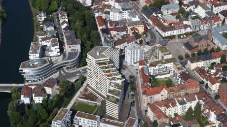 """Ein Blick aus der Luft auf die Neu-Ulmer Innenstadt: Wie soll sich die Große Kreisstadt in den nächsten zehn Jahren entwickeln? Zum Integrierten Stadtentwicklungskonzept Neu-Ulm """"Isek 2030"""" sind nun die Bürger gefragt."""