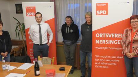 Als Delegierte für die Bundeswahlkreiskonferenz wurden (von links) Margit Eckstein, Fabian Kaimer, Jakob Hügel, Sabine Krätschmer und Silvia Wäsnig gewählt.