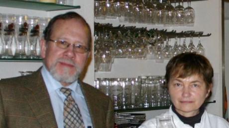 Martin Baur im Jahr 2008 mit seiner Frau Edelgard.