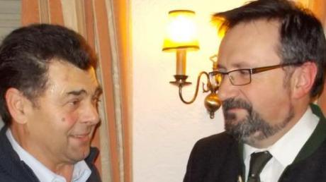 CSU-Vorsitzender Georg Appel (links) und Bürgermeister Gößl.