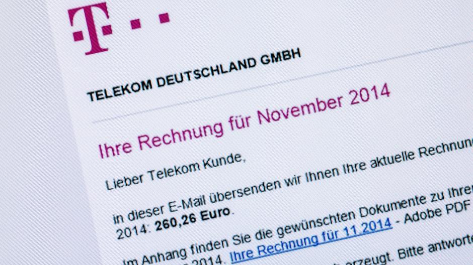 Wir Sind Online Falsche Telekom Rechnungen Enthalten Schadsoftware