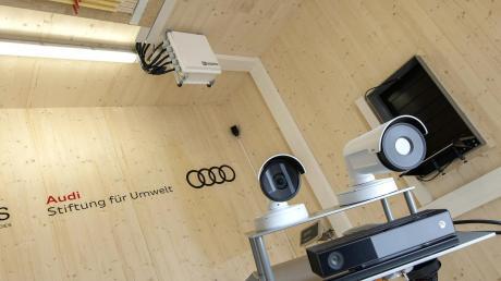 Ein um 360 Grad schwenkbarer Roboterarm dokumentiert – mit Hilfe von Infrarot und Wärmebildkameras – das Treiben im Hightech-Bienenstock von Münchsmünster.
