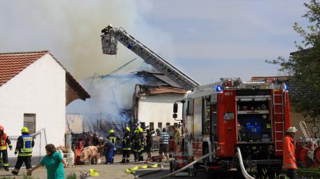 Brand in Gaden bei Pförring.