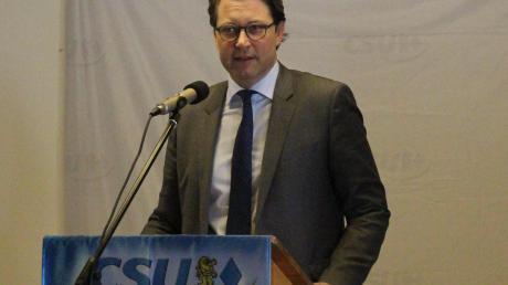 CSU-Generalsekretär Andreas Scheuer war beim Frühschoppen im Schönesberger Gasthaus Daferner.