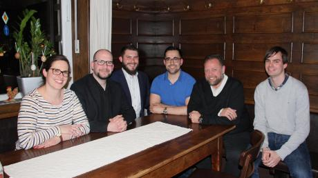 Von links: Josephine Harris, Andreas Fischer, Bernd Schneider, Christian Gerlach, Heinz Schafferhans und Andreas Mehltretter.