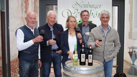 Sie freuen sich auf die 21. Ausgabe der Weinbörse: (von links) Alfred Bergbauer, Fritz von Philipp, Ina Bergbauer, Jürgen Fuhr und Josef Tremml.