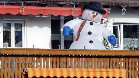 Ein aufblasbarer Schneemann wurde in Reichertshofen Opfer eines Diebstahls.