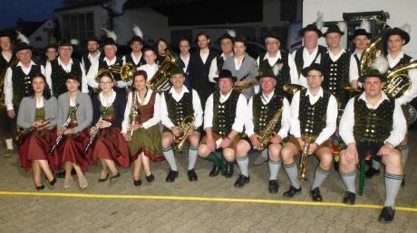 Die Rohrenfelser Blasmusikanten gaben nach langer Pause nun wieder ein Konzert.