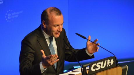 In seiner Rede beim Wahlkampfauftritt in Schrobenhausen zeichnete der 46-Jährige ein positives Bild von Europa. Probleme sparte er aber weitgehend aus.
