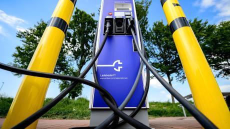 Eine Ladesäule für Elektroautos.