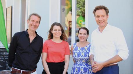 Vier Grüne in Neuburg: (von links) Markus Büchler, Jamila Schäfer, Agnes Krumwiede und Ludwig Hartmann.