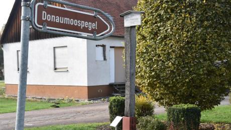 Recht unscheinbar wirkt im Moment derDonaumoospegel in Ludwigsmoos.