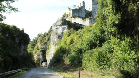 Einer der Höhepunkte der Fahrradtour rund um Neuburgist die Burg in Wellheim.
