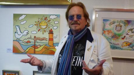 Frank Zander, 77, Comedy-Sänger, Moderator, Wohltäter – und Maler. Seine Bilder sind noch bis 7. Januar in der Galerie Nassler in Neuburg zu sehen.