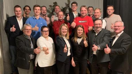 Der CSU-Ortsverband Oberhausen geht mit diesen Kandidatenund AmtsinhaberFridolin Gößl (Mitte) in den Kommunalwahlkampf.