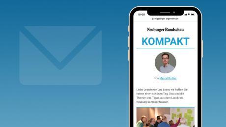 """In Zukunft erhalten Sie über unsere NewsApp von Montag bis Freitag jeden Abend unseren neuen lokalen Newsletter """"Neuburger Rundschau Kompakt""""."""